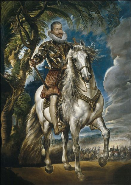 Rubens, Peter Paul: Equestrian Portrait of the Duke of Lerma. Fine Art Print/Poster. Sizes: A1/A2/A3/A4 (001087)